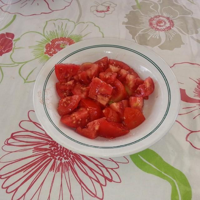 Mmmm... #tomates #mediterranean #menorcablue #menorca