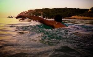 Letnie wieczorne pływanie